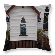 Town Church Throw Pillow