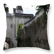 Town Gate - Loches - France Throw Pillow