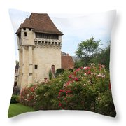 Town Gate - Nevers  Throw Pillow