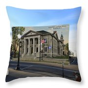 Town Hall And Court House In Westerly Rhode Island Throw Pillow