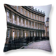 Town Houses Throw Pillow