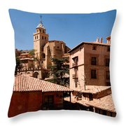 Town In The Red Sierra Throw Pillow