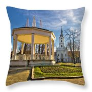 Town Of Bjelovar Central Park Throw Pillow