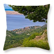 Town Of Karlobag And Island Of Pag Throw Pillow