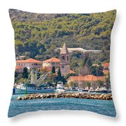 Town Of Kukljica On Ugljan Island Throw Pillow
