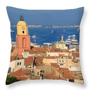 Town Of St Tropez Cote D'azur France Throw Pillow