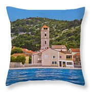Town Of Tisno Waterfront Croatia Throw Pillow