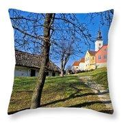 Town Of Varazdinske Toplice Center Park Throw Pillow