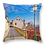 Town Of Varazdinske Toplice Walkway Throw Pillow