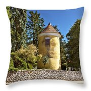 Town Of Vrbovec Historic Park Tower Throw Pillow