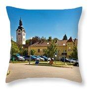 Town Of Vrbovec In Croatia Throw Pillow