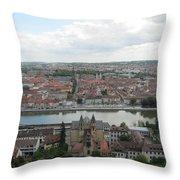 Town Of Wurzburg Throw Pillow