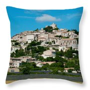 Town On A Hill, D51, Sault, Vaucluse Throw Pillow