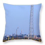Town Quay Navigation Marker And Fawley Throw Pillow by Terri Waters
