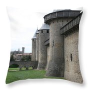 Town Wall - Carcassonne Throw Pillow