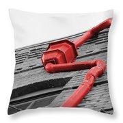Toxic Rain Spout Throw Pillow