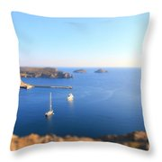 Toy Boats Throw Pillow