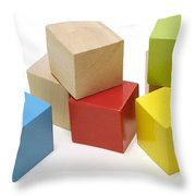 Toy Building Blocks Throw Pillow