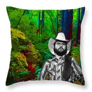 Toy Caldwell In The Woods Throw Pillow