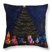 Christmas Toys Throw Pillow