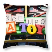Toy Heaven Throw Pillow