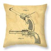 Toy Pistol Circa 1920s Throw Pillow