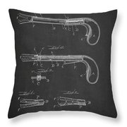 Toy Pistol Patent Drawing From 1895 Throw Pillow