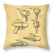 Toy Ray Gun Patent Throw Pillow