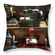 Toy Sewing Machines Throw Pillow