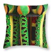 Toy Snakes Throw Pillow