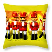 Toy Soldiers Nutcracker Throw Pillow by Bob Orsillo