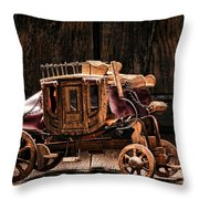 Toy Stagecoach Throw Pillow