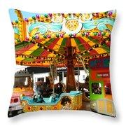 Toy Town Carousel  Throw Pillow
