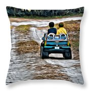 Toy Truck Riders Throw Pillow
