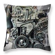 Toyota Engine Throw Pillow