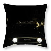 Toyota Fj Holiday Lights Throw Pillow