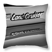 Toyota Land Cruiser Emblem -0581bw Throw Pillow