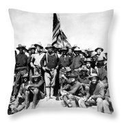 Tr And The Rough Riders Throw Pillow
