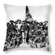 Tr And The Rough Riders Throw Pillow by War Is Hell Store