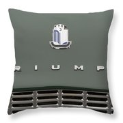 Tr3 Hood Ornament And Grill Throw Pillow