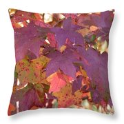 Traces Of Fall Throw Pillow