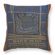 Traces Of The Past Busch Stadium Dsc01113 Throw Pillow