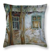 Traces Of Time Throw Pillow