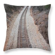 Track 3 Throw Pillow