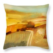 Track Throw Pillow by Charlie Baird