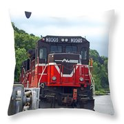 Track Star Throw Pillow