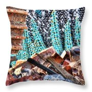 Tracks And Textures Throw Pillow