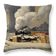 Tracks And Traffic Throw Pillow