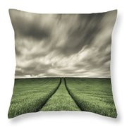 Tracks Throw Pillow by Dave Bowman
