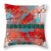 Tracks In Time Throw Pillow